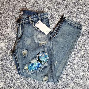 Custom Starry Night Jeans